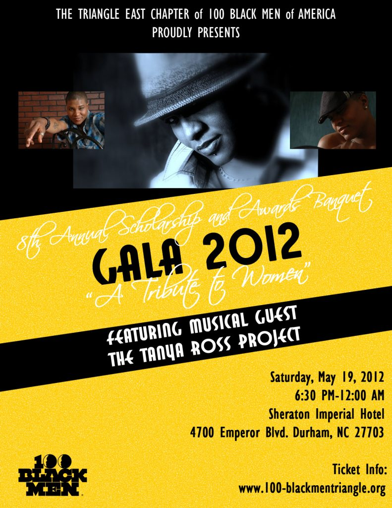 100 Black Men of America Triangle East Chapter - Gala Flyer