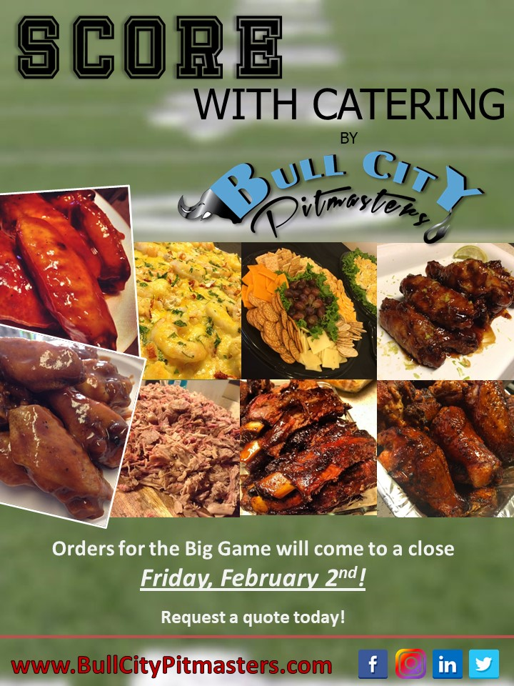 Bull City Pitmasters - Big Game Catering Flyer