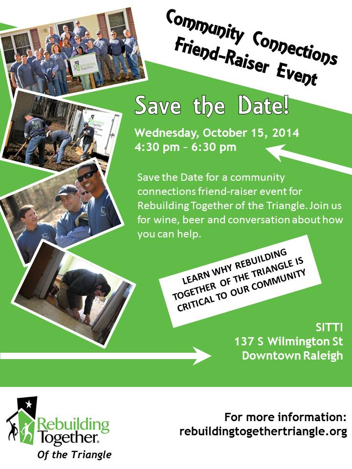 Rebuilding Together of the Triangle - Event Flyer